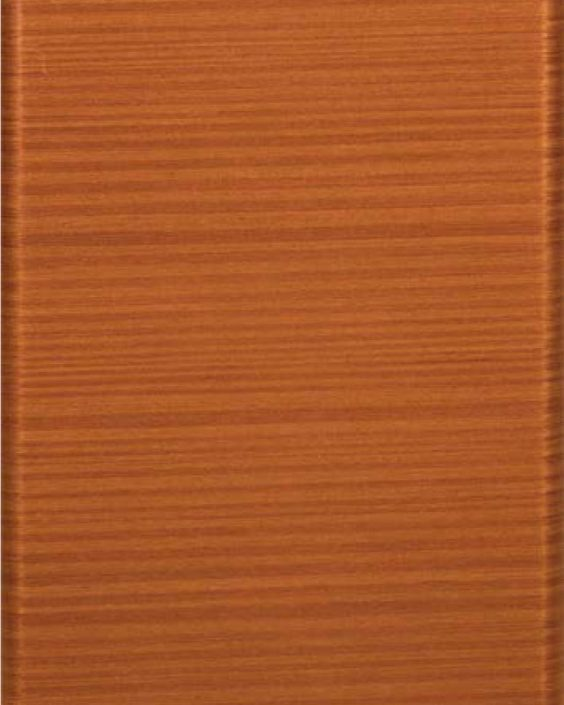 Vogue Rounded Stile Door with Java Mahogany Finish (Horizontal Grain)