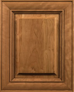 Waterfront Door Style with Natural Stain and Lite Coffee Shadow on Cherry Wood