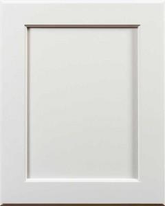 Yellowstone Flat Panel Door Style with Graystone Enamel Finish on Maple