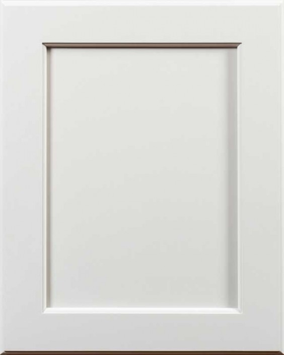 Yellowstone Flat Panel Door Style with Graystone Enamel Finish on Maple